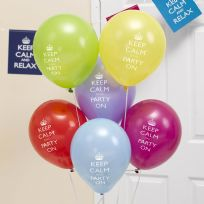 Keep Calm And Party On Balloons (8)